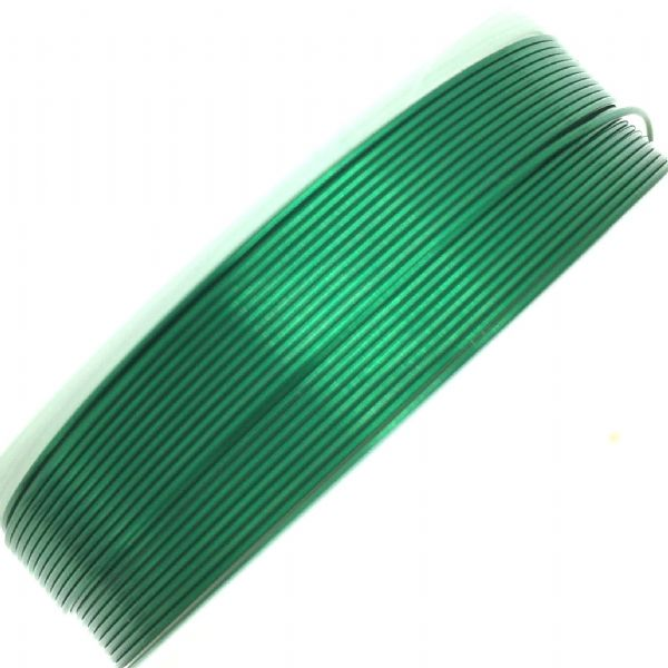 Colour coated copper wire for jewellery and crafts - colour emerald green